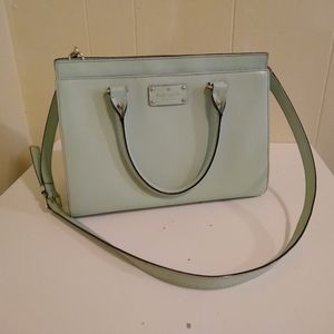 Kate Spade Mint Green Crossbody Leather Purse
